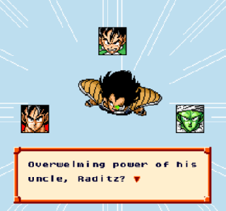 Screenshot Thumbnail / Media File 1 for Dragon Ball Z - Super Saiya Densetsu (Japan) (Rev 1) [En by Saiya v0.99Final] (~Dragon Ball Z - Legend of the Saiyans)
